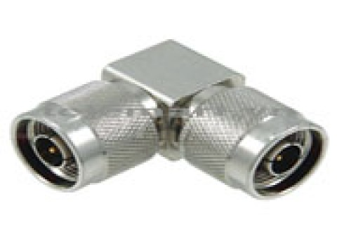 "Adaptor N male - N male angle for 1/2""R cable"